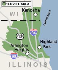 Our Illinois & Wisconsin Service Area