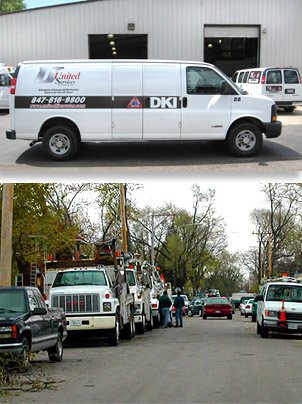 Emergency disaster response, United Services van